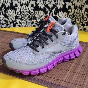 Reebok REALFlex CUSHRUN Grey Purple 8.5 Sneakers